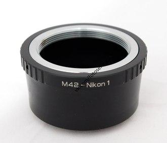 Кольцо m42 nikon с линзой бесконечность